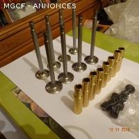 jeu de soupapes/ guides/joints neufs moteur 1250 MG TC/D/F
