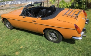 Vente MG B 1970 US